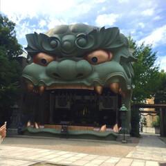 八坂神社/大阪/穴場スポット/秋/風景/旅 大阪の八阪神社へ。 インパクトのある感じ…
