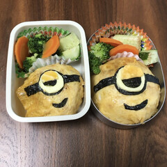 ミニオン/お弁当/おうちごはん 簡単そうに見えてなんとなく作って見たけど…