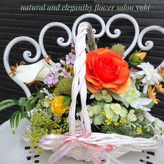 アーティフィシャルフラワーアレンジメント/アーティフィシャルフラワー/造花/ハンドメイド/インテリアフラワー/お花を贈ろう/... 今日は梅雨寒の1日ですね… 朝は結構激し…