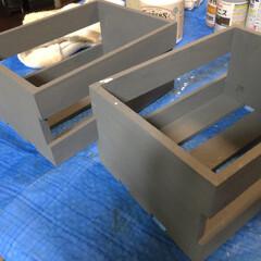 男前インテリア/簡単リメイク/簡単DIY/水性塗料/男前/リメイク/... セリアのウッドボックスを男前にリメイクし…