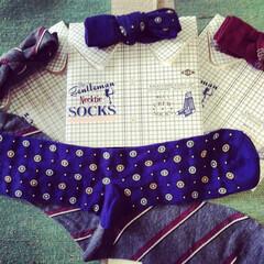 靴下/父の日/プレゼント/メンズソックス 蝶ネクタイかと思いきや靴下! パッケージ…