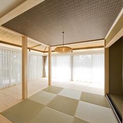 和室/リフォーム/畳/梁/床材/天然/... 【リフォーム施工事例】 縁なし畳をリビン…