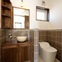 不動産・住宅/新築/トイレ/手洗い/タイル/設計事務所/... 和みの家