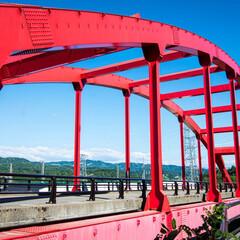水力発電所/ダム/橋/朱色/おでかけ 偶然見つけた紅い橋