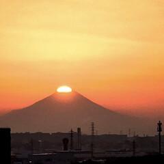 冬至/サンセット/ダイヤモンド富士/富士山/冬/風景 冬至のダイヤモンド富士