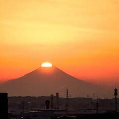 サンセット/ダイヤモンド富士/冬至/冬/風景