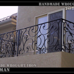 ロートアイアン/アイアン/ロートアルミ/アルミ/特注/オリジナル/... バルコニーの手摺も、ご希望デザインで製作…