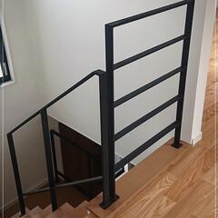 階段フェンス/階段手摺/手摺/フェンス/吹き抜けフェンス/吹き抜け/... 大人気!特注ロートアイアン製階段フェンス…
