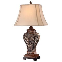 照明器具/テーブルランプ/テーブルスタンド/アンティーク/LED/お洒落/... 本体の模様が美しいテーブルランプ。 明か…