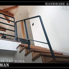 階段フェンス/階段手摺/手摺フェンス/手すり/吹き抜け/吹き抜けフェンス/... 大人気!特注ロートアイアン製階段フェンス…