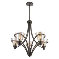 照明器具/シャンデリア/おしゃれ/シンプル/LED/天井照明/... シンプルなデザインとガラスシェードがお洒…