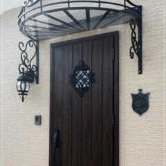 ロートアイアン/アイアン/ロートアルミ/アルミ/特注/オリジナル/... #1839 玄関ドア・照明器具・表札に、…
