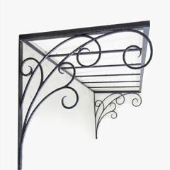 ロートアイアン/アイアン/ロートアルミ/アルミ/特注/オリジナル/... #1624 バルコニーの上部に取り付ける…