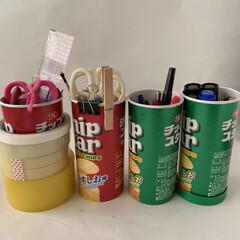 包装紙/マスキングテープ/空き箱リメイク/ワンアクション収納/文房具の収納/お菓子の箱再利用/... 収納が下手な私が考えたワンアクションでで…