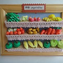 ミニチュアフード/ミニチュア/野菜/果物/インテリア/きゅうり/... ミニチュアフード<野菜・果物> フォトフ…