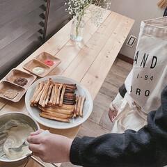 カフェ風インテリア/こどものいる暮らし/パン耳ポッキー/パン耳ラスク/チョコ作り/バレンタイン/... 今年は、娘と二人でのんびり♫ バレンタイ…(2枚目)
