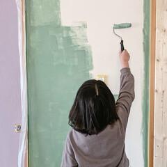暮らしを楽しむ/ミルクペイントforウォール/子ども部屋/子ども部屋インテリア/LIMIAインテリア部/DIY/... 子ども部屋は、子どもたちの好きな  色を…