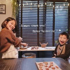 カフェ風インテリア/子どもと暮らす/暮らしを楽しむ/チョコ作り/バレンタイン/グルメ/... バレンタインチョコ作りの風景☺❣️  お…