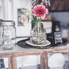 カフェ風インテリア/手作り/お花のある暮らし/お花の定期便/暮らしを楽しむ/DIY女子/... cafe風にDIYしたお気に入りのキッチ…