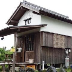 「近くに生えていた竹を使い 西窓にスダレを…」(1枚目)