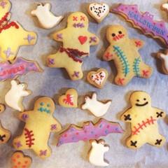 ハロウィン/クッキー/パーティ ハロウィンパーティに使うクッキー。  誤…
