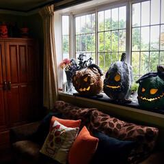 ハロウィン/デコレーション/ペーパークレイ/飾り付け/パンプキン ハロウィンディスプレイ。  何年か前に作…