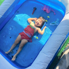 住まい 夏の思い出。 1日に3回プールに入った娘…