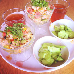 夏野菜/ナス/玄米/お米/雑穀米/キビ/... *夏野菜簡単まぜご飯* だいすきな夏野菜…