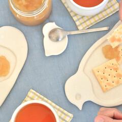 食器/白い食器/動物/カフェ/おやつ/子供食器 Ornament plate serie…