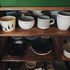 ロハス購入品/サニークラフト/作家さんの器/インテリア/食器棚/うつわ好き/... DIYした食器棚に ロハスフェスタて購入…