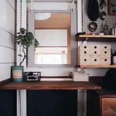 LABRICO/ラブリコ/賃貸インテリア/シンプルデザイン/鏡台/床の間/... 無印良品でMDF小物収納を 追加で購入し…