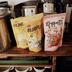 お気に入り/ナッツ/ハニーバターアーモンド/アーモンド/韓国/お菓子/... お気に入りの韓国のお菓子の アーモンドシ…