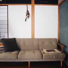 完成/レトロ/ドアリメイク/セルフリフォーム/漆喰/元和室/... 元和室の壁のDIY一応完成しました♥︎ …