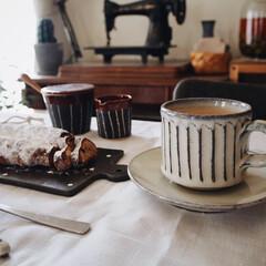 シュトーレン/まるいち本舗/ソーサー/コーヒーカップ/信楽焼/おやつ時間/... 最近、お迎えした信楽焼の コーヒーカップ…