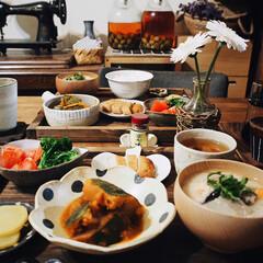 健康食/うつわ好き/作家さんの器/酒粕/かぼちゃの煮物/和食/... 本日の晩ご飯🥢 酒粕を貰っていたので 粕…
