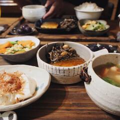 暮らしのキロク/和食/おうちごはん/晩ご飯/作家さんのうつわ/うつわ/... 大好きなうつわを使って晩ご飯🍚 どのうつ…