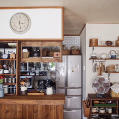 キッチンカウンター/漆喰/暮らしのキロク/うつわ/カゴ/模様替え/... 今日も本当に暑い💦 9月に入ったのに真夏…
