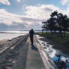 冬の海/父の実家/ミラーレス一眼/能登半島/石川県/見附島/... まだまだある こちらの風景の写真☺️ 雪…