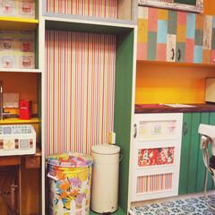 おしゃれでかわいいインテリア/オシャレ収納/オシャレ/おしゃれ家具/おしゃれインテリア/シンク/... かわいい作り付け家具!