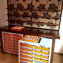 店舗デザイン/空間デザイン/カラーコーディネート/インテリアデザイン/インテリアコーディネート/ドアデザイン/... AFTER  下の家具は引き出せてしまえ…