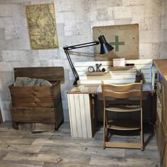 子供部屋/古材風クッションフロア/コンクリート壁紙/襖リメイク/和室リノベーション/すのこ板/... すのこは、DIYでよく使いますが、そのま…