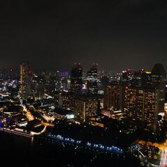 思い出/夜景/旅行/シンガポール/春休み/おでかけワンショット シンガポールの夜景  高層の建物が多かっ…