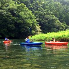 帰省/アウトドア/大自然/夏の思い出/夏休み/子どもとお出かけ/... 川で、初めてのカヌー体験! 大自然の中、…
