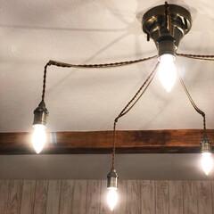 トレディア 5灯 シーリングライト ミニクリプトン球 LT-9679(シーリングライト)を使ったクチコミ「私のお気に入りの照明器具♫  インターフ…」