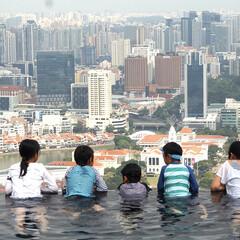 プール/おでかけ/絶景/旅行/シンガポール/マリーナベイサンズ/... 春休み、シンガポールに行って来ました! …