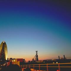 横浜/おでかけ 夜になっていく横浜の海はキレイでした☆