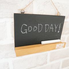 キャンドゥ/ダイソー/セリア/100均/DIY/雑貨/... 先ほどの黒板ボード、壁掛けでも使えます。…(1枚目)