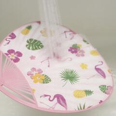 暑さ対策/うちわ/レジャー用品/布うちわ/100均/セリア 濡らして使う、セリアの布うちわ。ブログに…