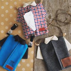 シャツ型/手作り/ティッシュケース/手芸/雑貨/ハンドメイド/... ティッシュが必需品になってくる季節。シャ…