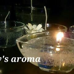 香り/ハンドメイドキャンドル/癒しアイテム/キャンドル/ハンドメイド201606 ジェルキャンドル  ジャスミン フレグラ…